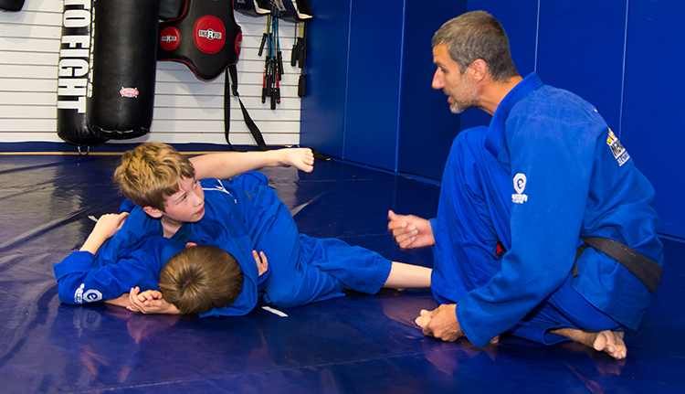 Kids-martial-arts-side-control-instruction